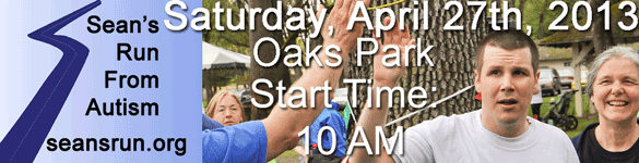 Sean's Run from Autism 2013 April 27th at Oak's Park