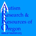 ARRO Logo with blue background and text and a white vertical arrow