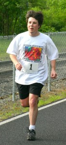 Sean Running at Sean's Run from Autism at Historic Oak's Park