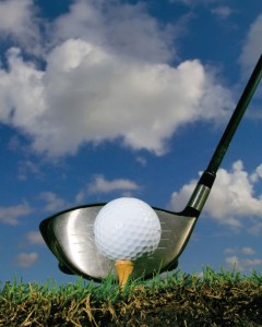 Picture of a Golf Club Hitting Ball