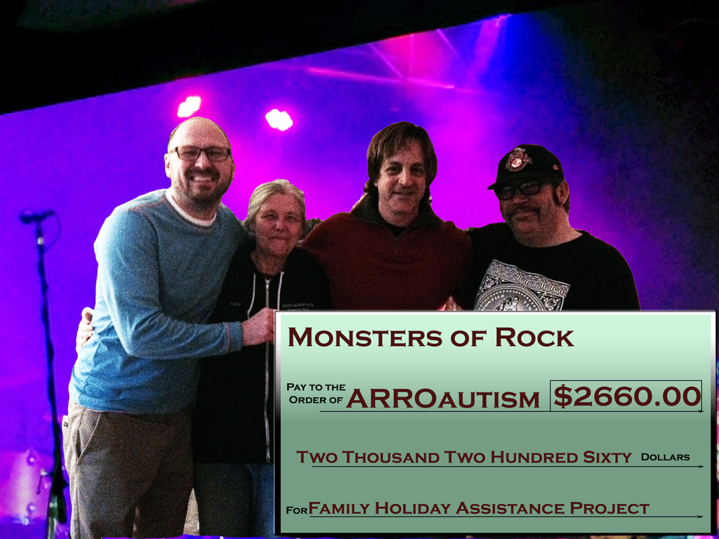 Monsters of Rock Presents Check for 2660 dollars