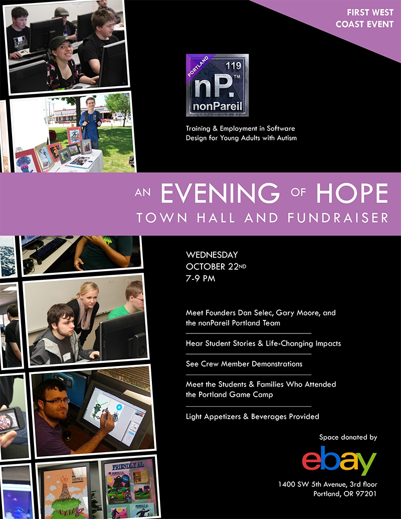 Registration brochure for nonPareilPDX TownHall October 2014