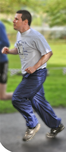 Picture of Sean Running at Sean's Run for ARROAutism