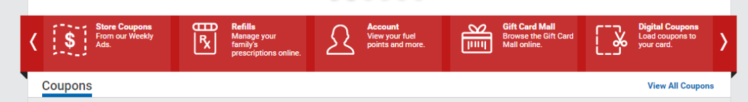 Click the My Account Button - red bar with person profile