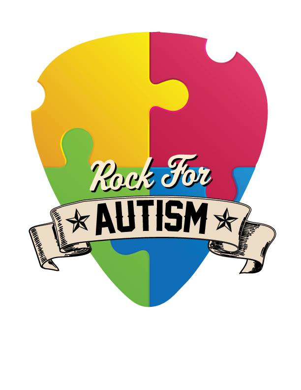 Rock for Autism benefiting ARROAutism logo of puzzle piece heart